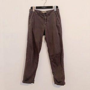 Zara Z1975 gray khakis straight leg 4